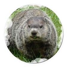 GroundHogTile Round Car Magnet