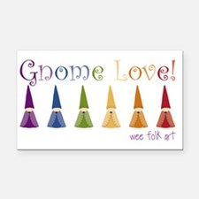 gnome-love.gif Rectangle Car Magnet