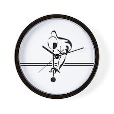 poolman Large round button Wall Clock