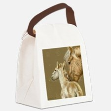 fjordfoalround Canvas Lunch Bag