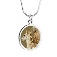 fjordfoalround Silver Round Necklace