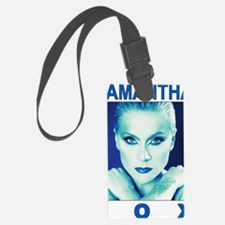 sam fox t-shirt design 1 (blue   Luggage Tag