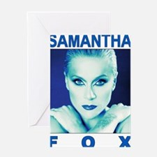sam fox t-shirt design 1 (blue  gree Greeting Card
