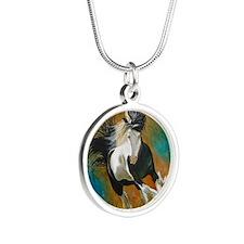 runninggypsyround Silver Round Necklace