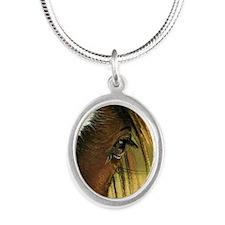 gypsyeyeround Silver Oval Necklace