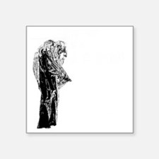 "la_llorona_bien_black Square Sticker 3"" x 3"""
