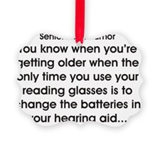 Reading glasses and hearing aids Ornament