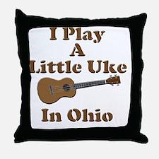 Ohio Ukulele Throw Pillow