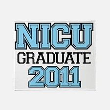 NICU Graduate Boy 2011 Throw Blanket