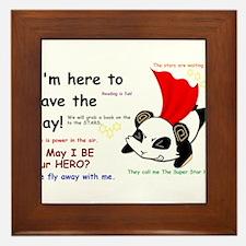 Save the Day Framed Tile