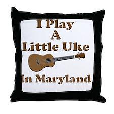 Maryland Ukulele Throw Pillow