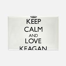 Keep Calm and Love Keagan Magnets