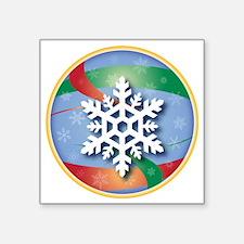 """SNOWFLAKE 4 Square Sticker 3"""" x 3"""""""