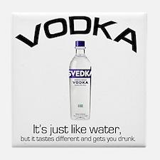 vodka shirt copy Tile Coaster