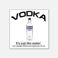 "vodka shirt copy Square Sticker 3"" x 3"""