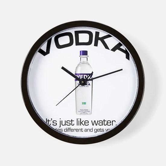 vodka shirt copy Wall Clock