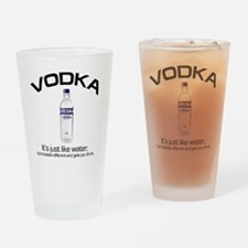 vodka shirt copy Drinking Glass