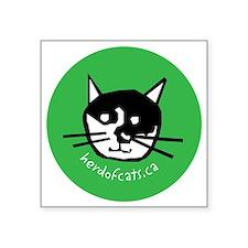 """HOCP logo ornament 2 Square Sticker 3"""" x 3"""""""