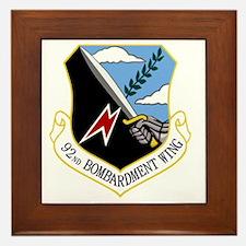 92nd Bomb Wing Framed Tile