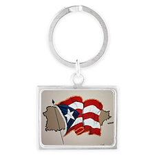 puerto-rico-flag Landscape Keychain