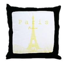 EiffelTower_10x10_apparel_YellowOutli Throw Pillow