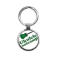 Funny Ukulele Round Keychain
