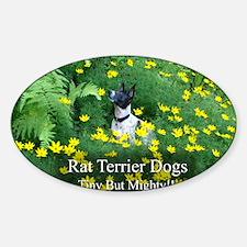 rat_terrier_flowers Decal
