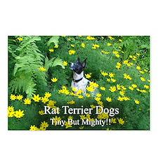 rat_terrier_flowers Postcards (Package of 8)