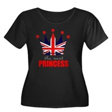 crown-th Women's Plus Size Dark Scoop Neck T-Shirt