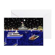 Newport Beach_legendary Harbor Greeting Card