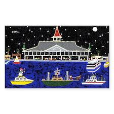 Newport Beach_Christmas Boats  Decal
