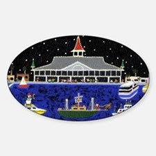 Newport Beach_Christmas Boats on Pa Decal