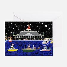 Newport Beach_Christmas Boats on Par Greeting Card