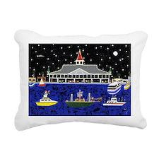 Newport Beach_Christmas  Rectangular Canvas Pillow