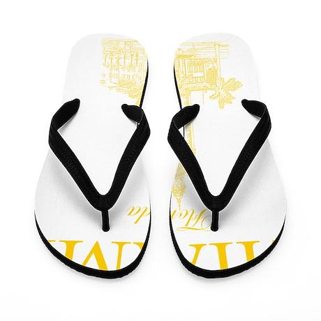 FreedomTower_10x10_apparel_YellowOutlin Flip Flops