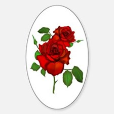 Rose Red Oval Decal