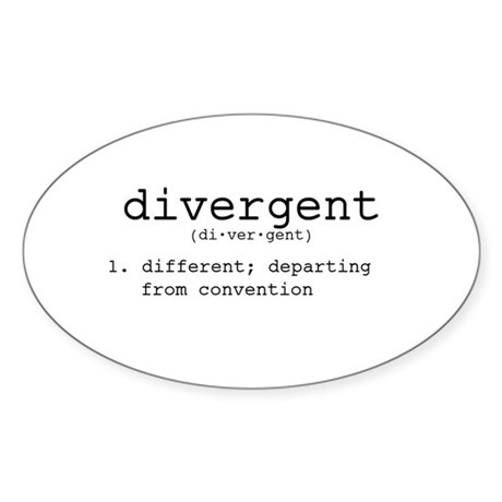Divergent definition decal by admin cp14486689 Stickers definition