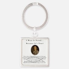 Ben Franklin Wear It Proud Adult T Square Keychain