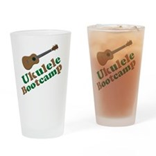 Ukulele Bootcamp Drinking Glass