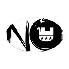 partyofNO Oval Car Magnet