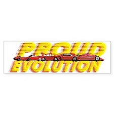 evolution cars dark Bumper Sticker