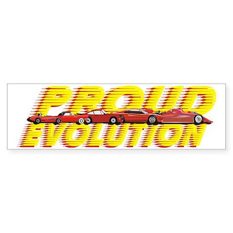 evolution cars dark Sticker (Bumper)