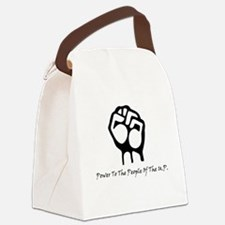 Blk_Pwr_2_People.gif Canvas Lunch Bag