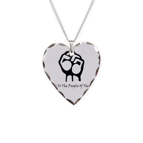 Blk_Pwr_2_People.gif Necklace Heart Charm