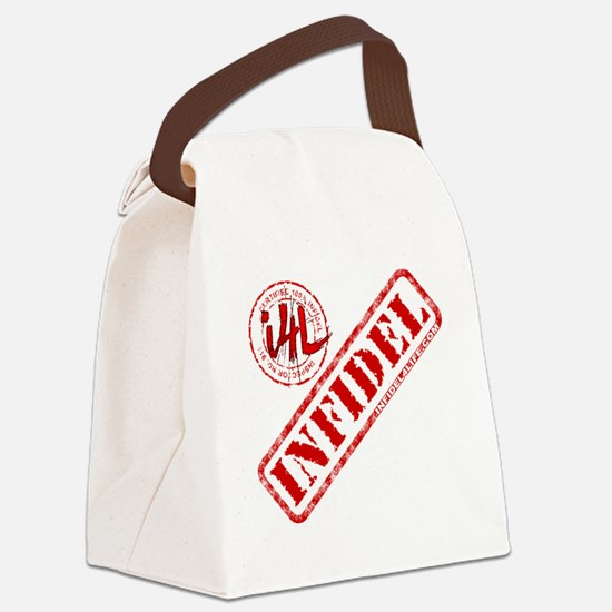 10x10_apparel_white Canvas Lunch Bag