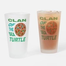 Clan of the Sea Turtle Drinking Glass