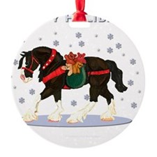 Christmas Clydesdale Ornament