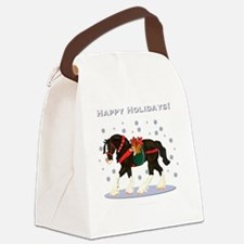 Christmas Clydesdale Canvas Lunch Bag
