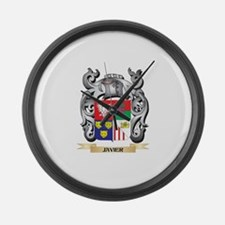 Jay Coat of Arms - Family Crest Large Wall Clock