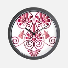 Namaste Henna Tattoo in Ruby Wall Clock
